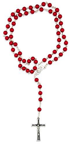 (Colorful Italian Catholic Rosary (Ruby))