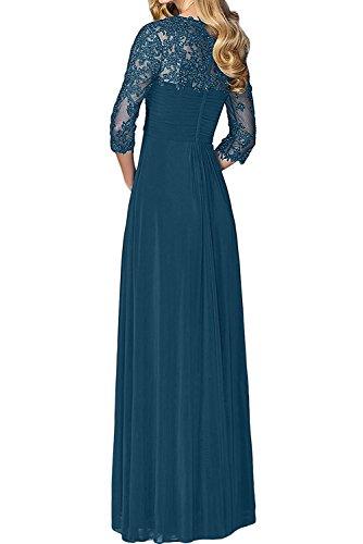 Jugendweihe Damen Braut Brautmutter mit Kleider Abendkleider Langarm Navy Spitze La Dunkel Traube Blau Kleider Marie E0qzwX