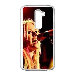 LG G2 Cell Phone Case White_hb39 avril lavigne sing concert Nxmrz