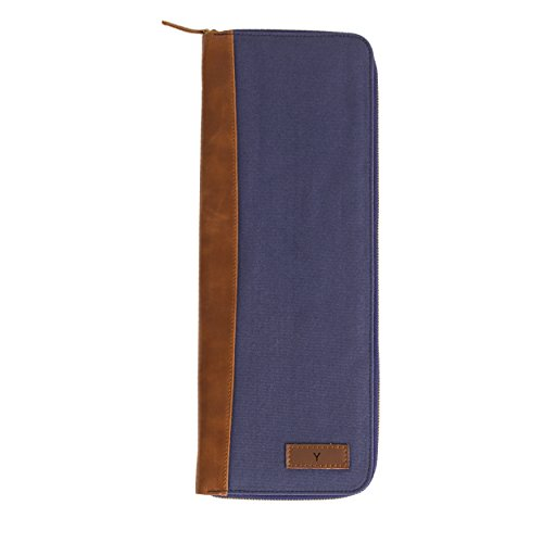 Cathy's Concepts Personalized Travel Tie Case, Navy, Lett...