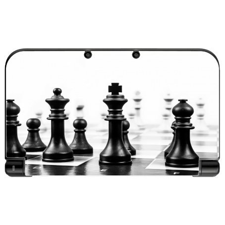 Chess Black and White New 3DS XL 2015 Vinyl Decal Sticker Skin by Moonlight Printing (3ds Chess Nintendo For Game)