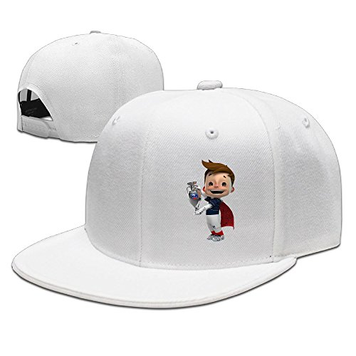 Euro 2016 Champ France Unisex Brim Cap Snapback Flat Bill Hat White