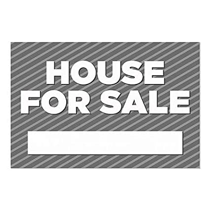 5-Pack CGSignLab Stripes Gray Window Cling House for Sale 36x24