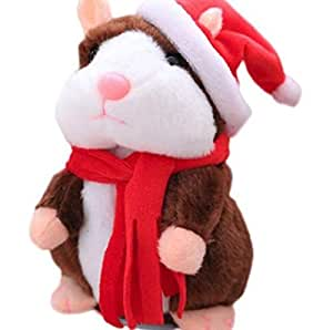 Christmas gift toy talking change sound hamster electric toy Christmas hat hamster toy shaking hamster funny electric toy