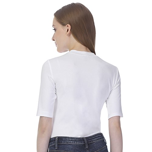 Essentialist-Womens-High-Crew-Neck-Half-Sleeve-Bodysuit
