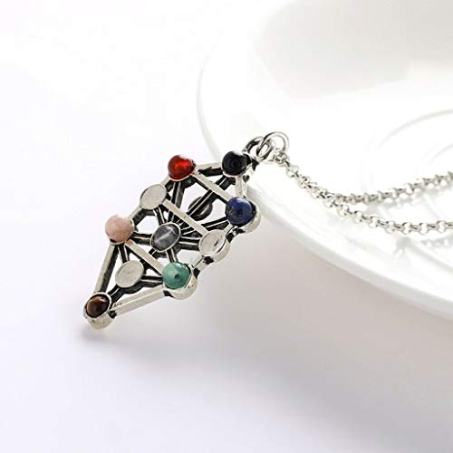 Fashion Gemstone Pendant Necklace Silver Chain Jewelry Accessory Women Lady Necklace Jewelry Crafting Key Chain Bracelet Pendants Accessories Best
