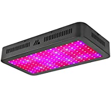 LED Grow Light, Dimgogo 1500W Triple Chips Full Spectrum Grow Lights with UV&IR for Garden Greenhouse Indoor Plants Veg and Flower Black(10W/Led)