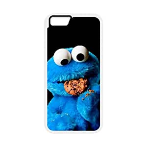 iPhone 6 4.7 Inch Cell Phone Case White Cookie Monster jvjx
