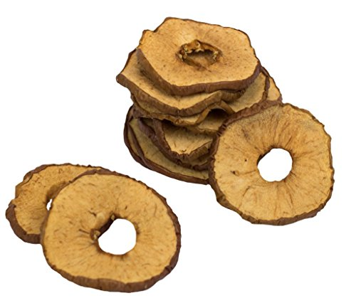 Picture of Lucky Premium Treats Natural Apple Ring Dog Treats Made in the USA Only - Premium Vegetarian Dog Snacks in a 12oz Resealable Bag