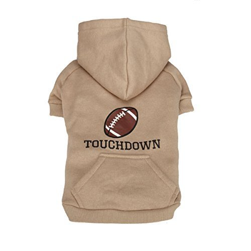 Guardian Gear Casual Canine Sports Hound Hoodie, Small, Football