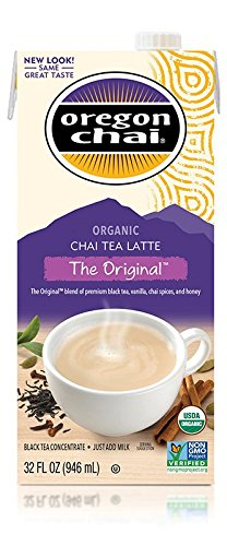 Mix Chai (Oregon Chai Concentrate Original 32-Ounce Boxes (Pack of 6),  Liquid Chai Tea Concentrate, Spiced Black Tea For Home Use, Café, Food Service)