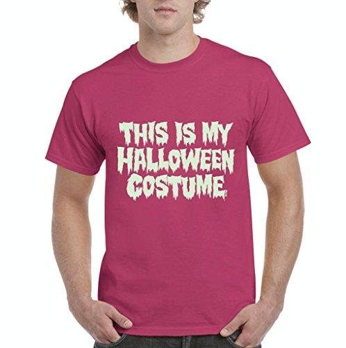 Xekia This is My Halloween Costume Fashion Party People Best Friends Gift Couples Gift Men's T-Shirt Tee XX-Large Heliconia Pink -