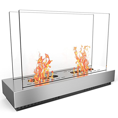 Fireplace Phoenix Electric - Regal Flame Stainless Steel Phoenix Ventless Free Standing Ethanol Fireplace Can Be Used as a Indoor, Outdoor, Gas Log Inserts, Vent Free, Electric, Outdoor Fireplaces & Fire Pits