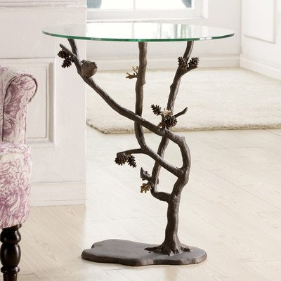 SPI Home Bird And Pinecone Table