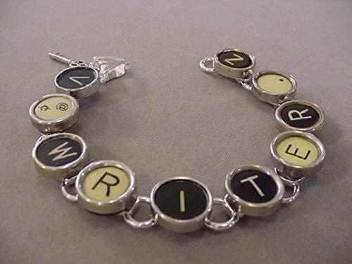 Typewriter Recycled Keys - Typewriter Key Bracelet spells WRITER Typewriter key jewelry recycled jewelry