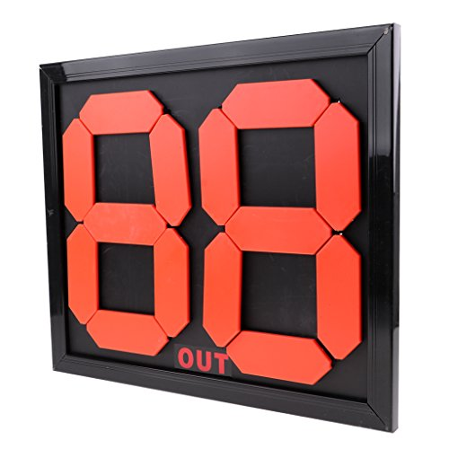 Prettyia Practical Soccer Substitution Board Double Side Display 4-digits Black Color
