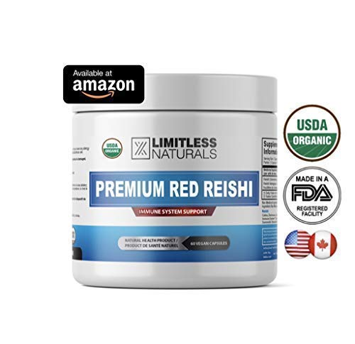 Therapeutic Grade Reishi, 120 Caps, Beta-Glucan 28%, Polysaccharides 26% - Elevate Your Immune System, Relieves Anxiety and Stress and Promotes Positive Moods