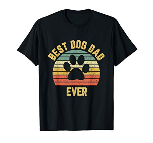 Vintage Dog Dad Shirt Cool Father's Day Gift Retro T Shirt (Best Dog Dad Ever)
