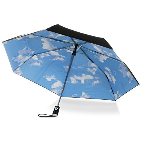 Thing need consider when find compact automatic umbrella blue sky clouds?