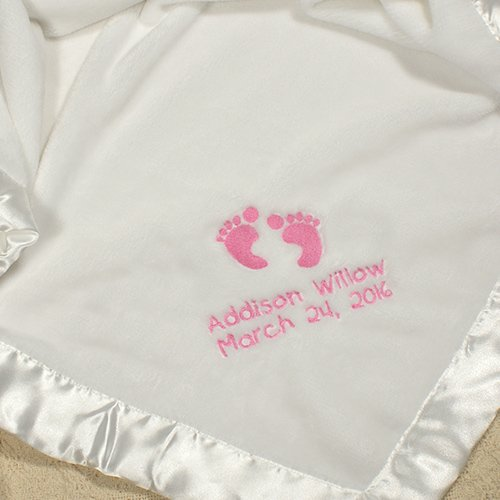 Embroidered Baby Girl Fleece Blanket, 30