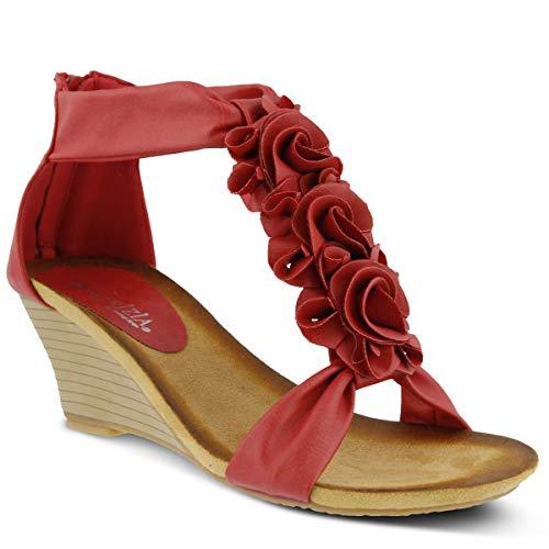 PATRIZIA Women's Harlequin Wedge Sandal Red