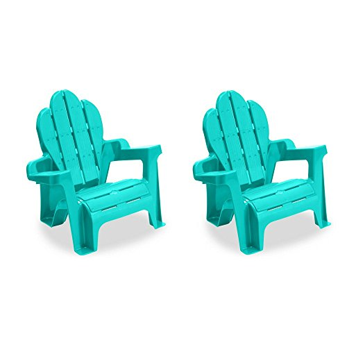 American Plastic Toy Adirondack Chair in Teal (2 packs) American Made Plastic Toys