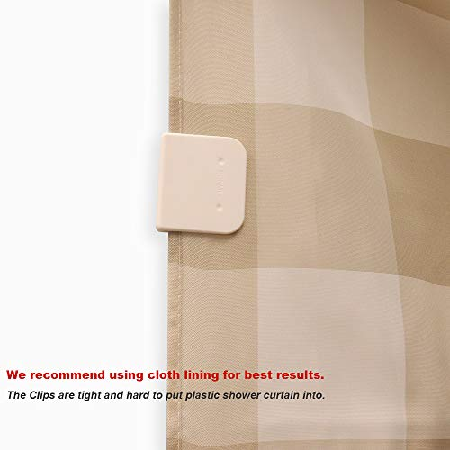 EONMIR 4 Pack Windproof Stop Protect Clips Shower Splash Guard Curtain Clip Self Adhesive