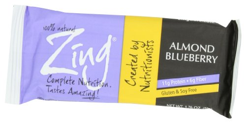 Zing Nutrition Bar, Almond Blueberry, 1.76 Ounce (Pack of (Advanced Protein Bar Peanut Butter)