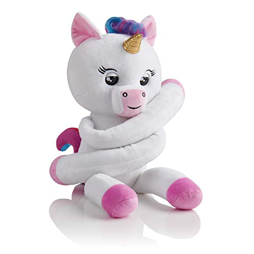 WowWee Fingerlings Hugs - Gigi (White) - Advanced Interactive Plush Baby Unicorn -