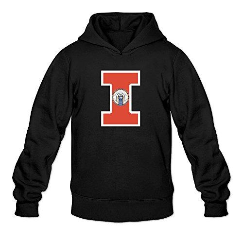 Tjame Men's Taylor Zalewski 17 Illinois Fighting Illini Hoodies Sweatshirt Black