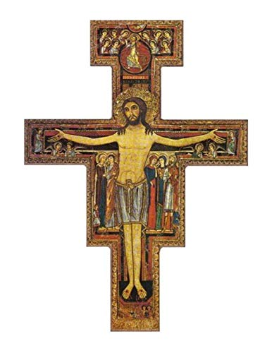 Desiderata Gallery Brand, San Damiano, St. Francis of Assisi Tau Crucifix Wall Cross Imported from Italy 9.75