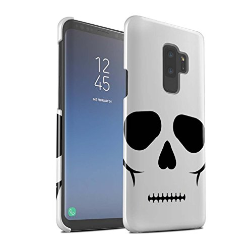 STUFF4 Gloss Hard Back Snap-On Phone Case for Samsung Galaxy S9 Plus/G965 / Skull Design/Halloween Character Collection -