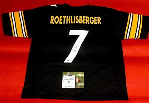 BEN ROETHLISBERGER AUTOGRAPHED PITTSBURGH STEELERS JERSEY AASH BIG BEN
