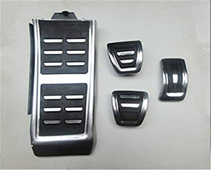 Ushopkins AT No Drilling Automatic Car Gas Brake Pedal Cover Accelerator Brake Foot Rest Pedals Covers For Audi A4 A3 A5 A6 A7 A8L Q5