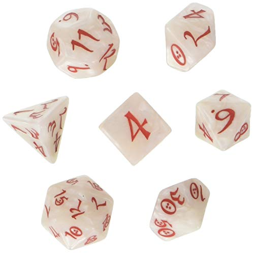 Shop Pearl Sets - Q Workshop Classic RPG Pearl & Red Dice Set