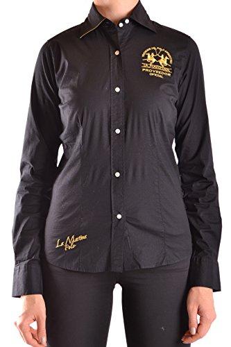 la-martina-womens-mcbi178011o-black-gold-cotton-shirt