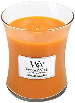 GINGER MACARON WoodWick 10oz Scented Jar Candle Burns 100 Hours