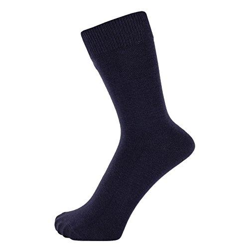 ZAKIRA Finest Combed Cotton Dress Socks in Plain Vivid Colours for Men, Women, 6-9 (US), Navy