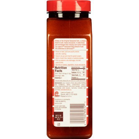 PACK OF 8 - Lawry's Seasoned Salt, 40 oz
