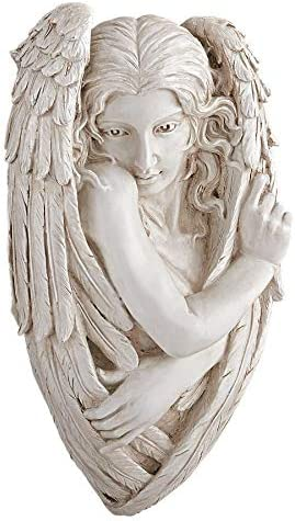 Design Toscano Tristan, the Timid Angel Wall Sculpture