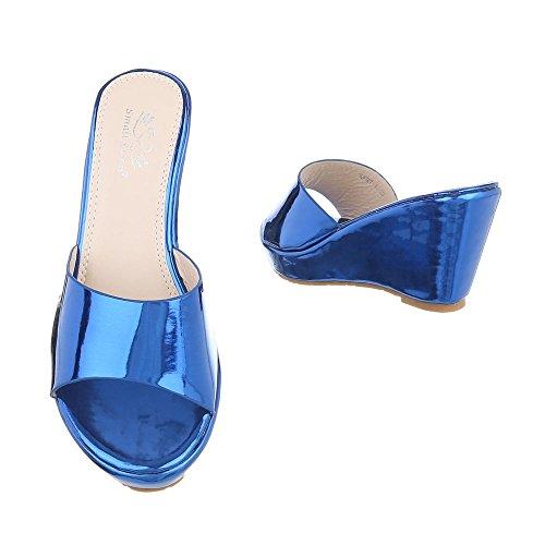 Ital-Design - zapatillas de baile (jazz y contemporáneo) Mujer Blau XF87-U