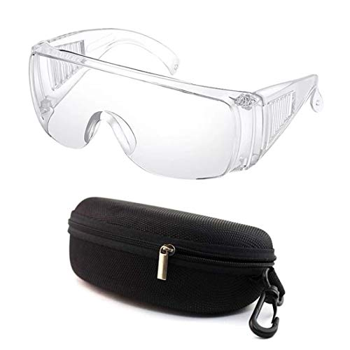 Safety Glasses Personal Protective Equipment, Eyewear Protection, Clear, High Impact, Anti-fog, Over Glasses, For Work, Lab, DIY, Construction, Chemistry