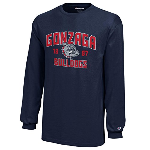 NCAA Champion Boy's Long Sleeve Jersey T-Shirt Gonzaga Bulldogs Large