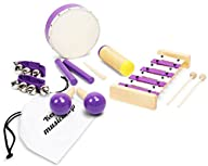 Kenley Wooden Musical Instruments for Kids – Percussion & Rhythm Band Play Music Toys for Baby…