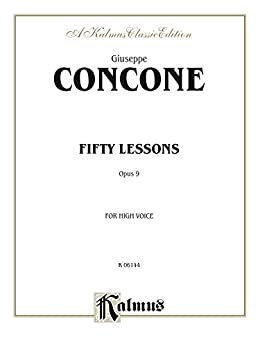 Fifty Lessons Opus 9 For High Voice And Piano 0 Kalmus