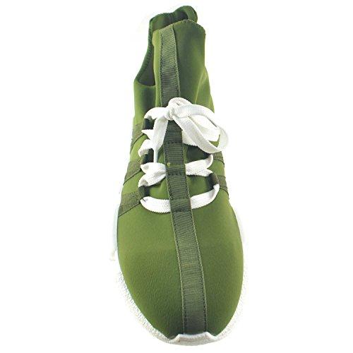 Made Estate Sneakers Italy Giovanile In Uomo Moda Primavera Lycra Calzino Scarpe Bassa Verde Tessuto pO8zqwn5T