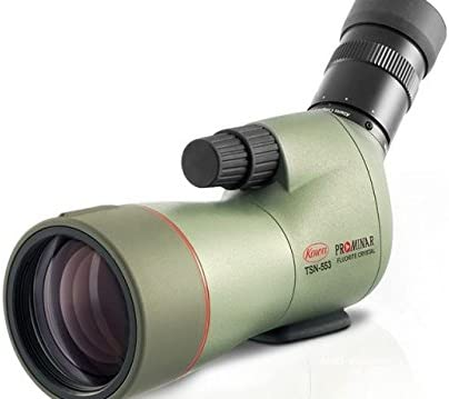 Kowa Prominar Series TSN-553 Compact 15-45×55 Fluorite Crystal Spotting Scope with Angled Eyepiece, 14-12.5mm Eye Relief, 3m 9.84 Min Focus Distance, Waterproof, Green