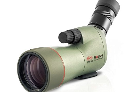 Kowa Prominar Series TSN-553 Compact 15-45x55 Fluorite Crystal Spotting Scope with Angled Eyepiece, 14-12.5mm Eye Relief, 3m (9.84') Min Focus Distance, Waterproof, Green (Series 553)