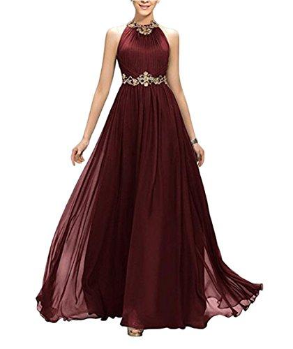 the Beauty burgunderfarben Leader Kleid Damen of f1nw76qU
