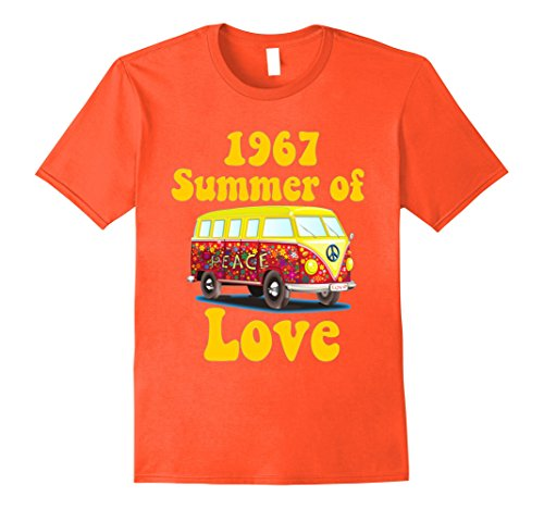 Mens 1967 Summer of Love Retro Tees Vintage Sixties Hippie Shirt Large (60s Mens Clothes)